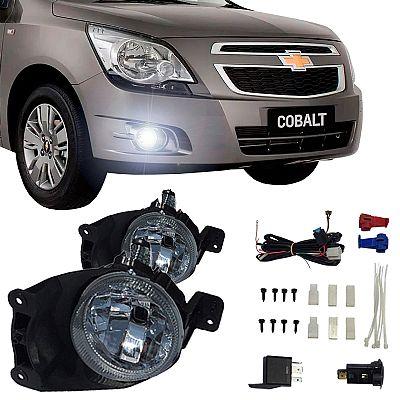 Kit Farol de Milha GM Cobalt 2012 até 2016 Farol Neblina Auxiliar
