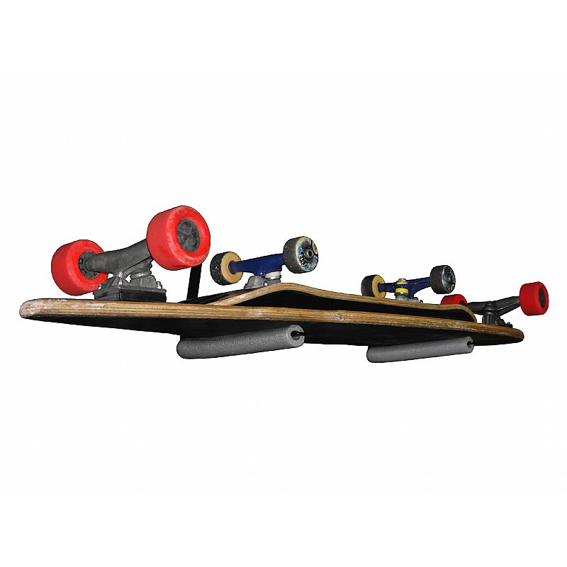 Suporte de Parede para Skates Street ou Long Capacidade 2 Skates