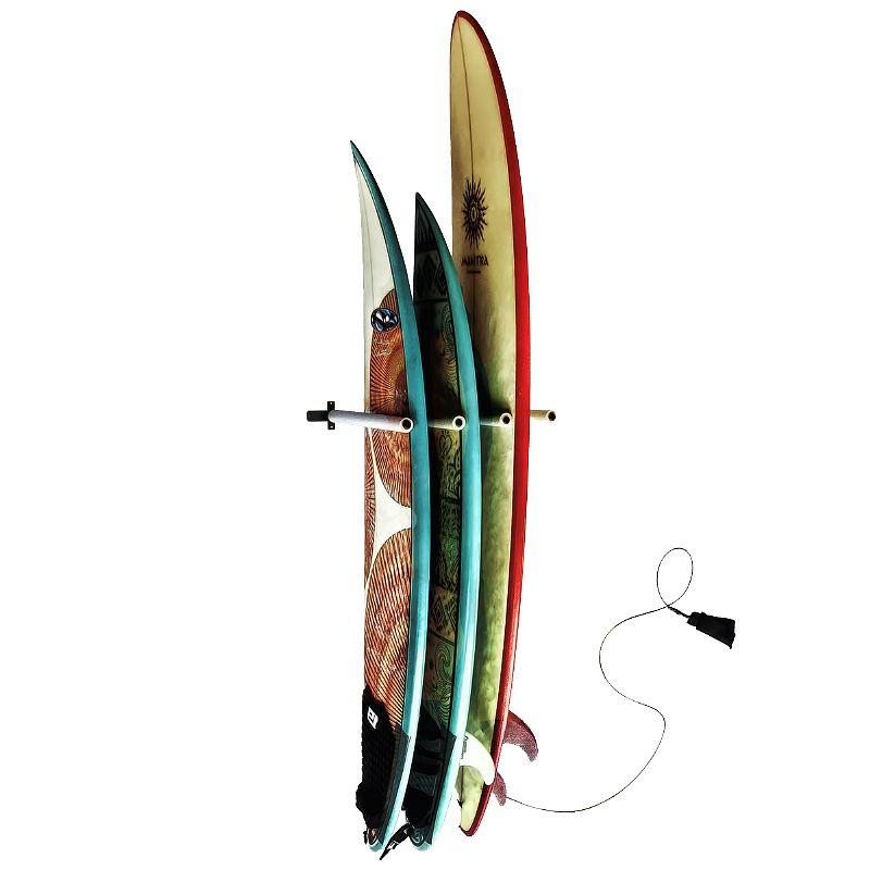 Suporte de Parede para Pranchas de Surf Capacidade até 3 Pranchas