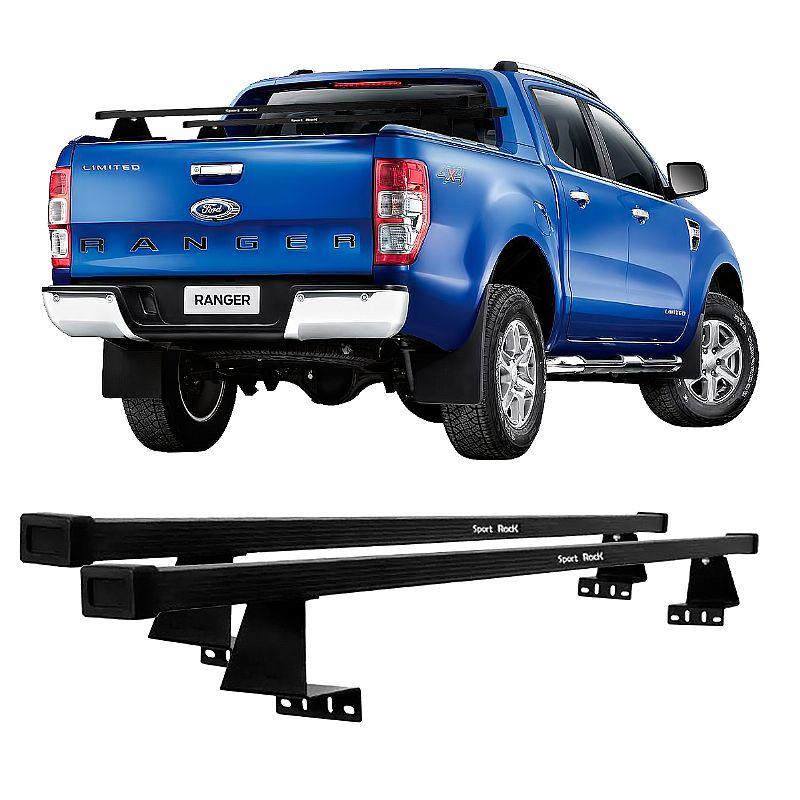 Rack de Caçamba Ford Ranger 2013 adiante Eqmax Sport Rack Aço