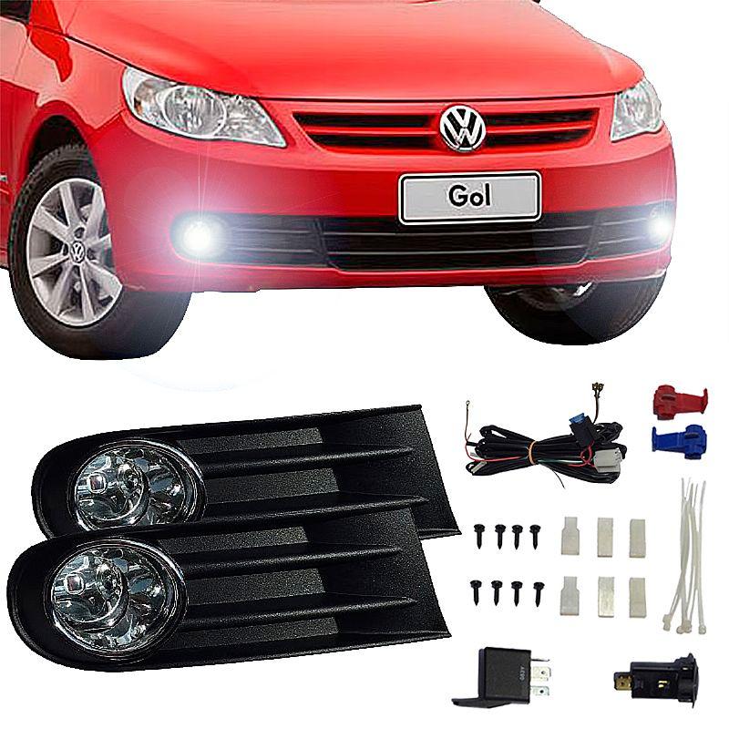 Kit Farol de Milha Volkswagen Gol G5 2008 até 2013 Farol Neblina