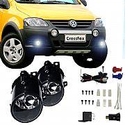Kit Faról de Milha Volkswagen CrossFox 2005 até 2009 Faról Neblina