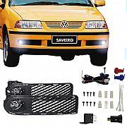 Kit Farol de Milha Volkswagen Saveiro G3 2000 até 2002 Farol Neblina