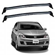 Rack de Teto Nissan Tiida 2007 até 2013 Travessas Eqmax New Wave