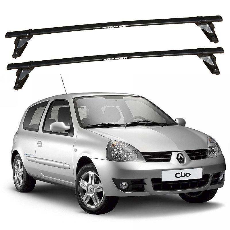 Rack de Teto Renault Clio 2 portas 2000 até 2016 Travessas Eqmax
