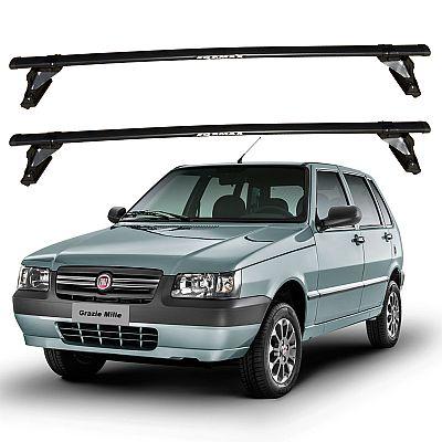 Rack de Teto Fiat Uno 4 portas 2005 até 2013 Eqmax Aço