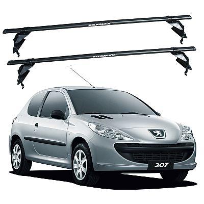 Rack de Teto Peugeot 207 2  portas 2008 até 2015 Travessas Eqmax