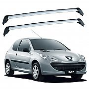 Rack de Teto para Peugeot 207 2 portas 2008 até 2015 Eqmax Wave