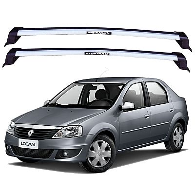Rack de Teto Renault Logan 2008 até 2013 Travessas Eqmax New Wave