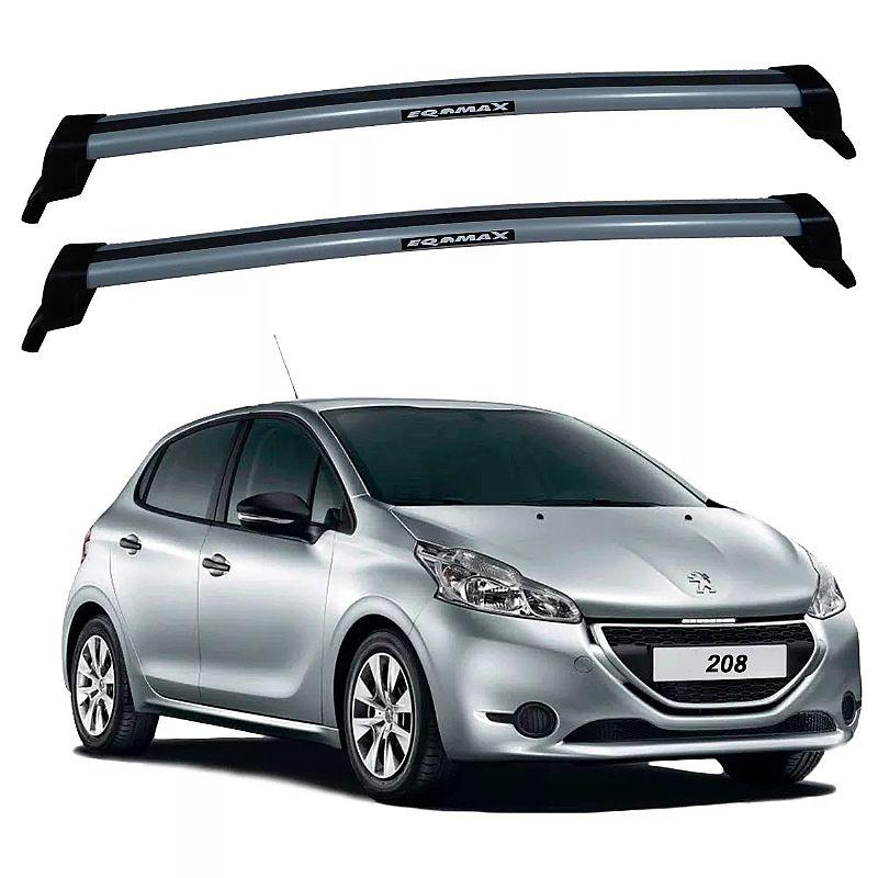 Rack de Teto Peugeot 208 2013 até 2017 Travessas Eqmax New Wave