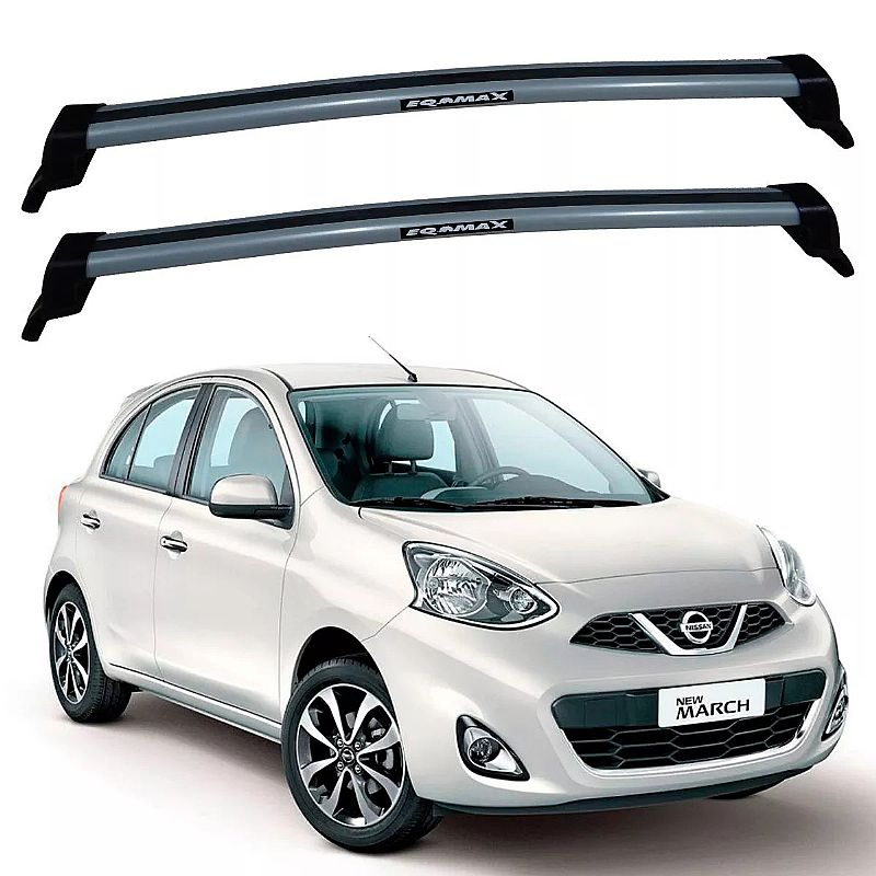 Rack de Teto Nissan March 2011 até 2017 Travessas Eqmax New Wave
