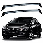 Rack de Teto Honda Civic 2013 até 2016 Travessas Eqmax New Wave
