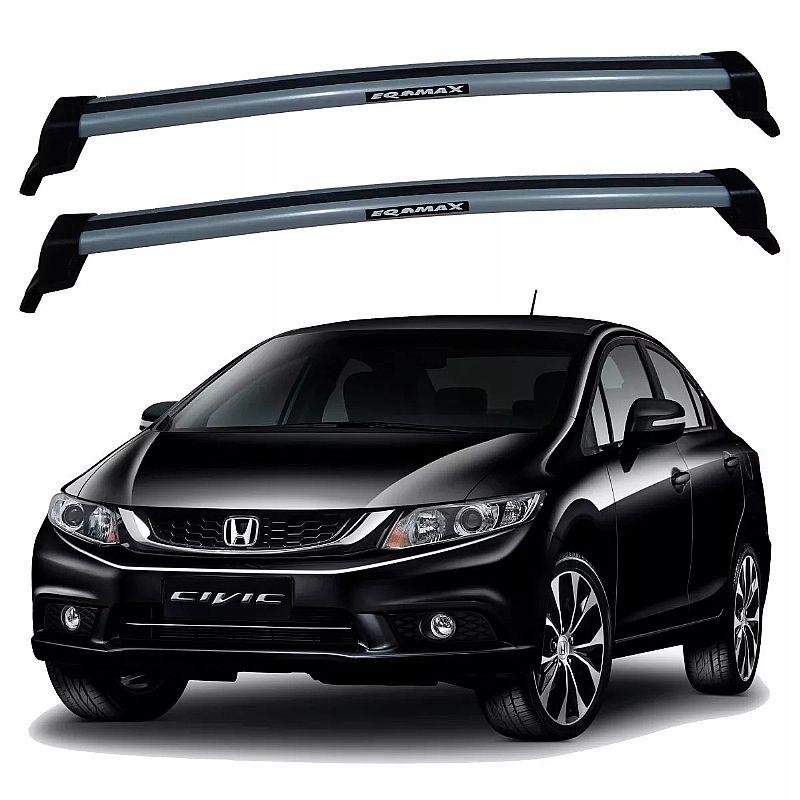Rack de Teto Honda Civic 2013 até 2016 Travessas Eqmax New Wave