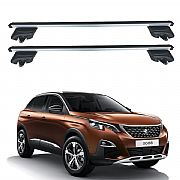 Rack de Teto Peugeot 3008 2018 e 2019 Travessas Eqmax Beta