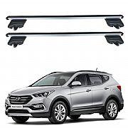 Rack de Teto Hyundai Santa Fe 2014 até 2018 Travessas Eqmax Beta