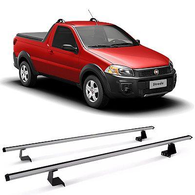 Rack de Caçamba para Fiat Strada 1999 até 2019 Eqmax Aluminium