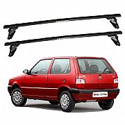 Rack de Teto Fiat Uno 2 portas 2005 até 2013 Eqmax Aço