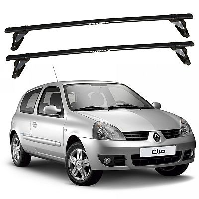 Rack de Teto Clio 2 portas 2000 até 2016 Eqmax Bagageiro Aço