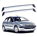 Rack de Teto para Peugeot 206 2 portas 1998 até 2010 Eqmax Wave