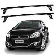 Rack de Teto Fiat Linea 2008 até 2016 Eqmax Bagageiro Aço