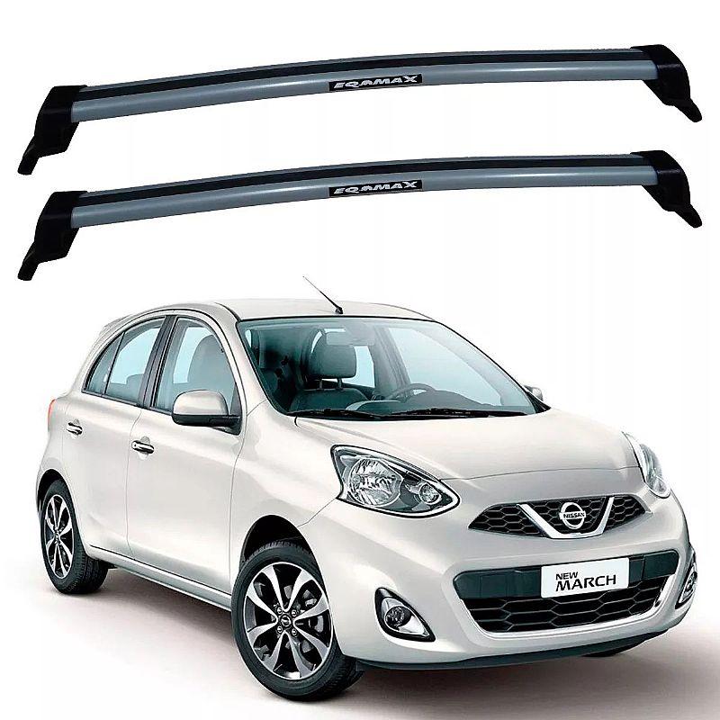 Rack de Teto Nissan March 2011 até 2017 Travessas Eqmax New Wave